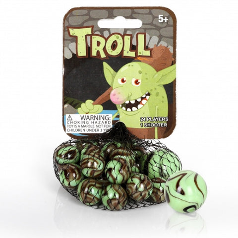 Troll Game Net Set 25 Piece Glass Mega Marbles