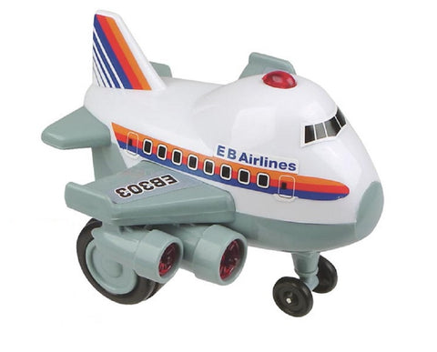 Zoomsters Jumbo Jet  Friction Wind-up Toy 4 Inches