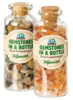 Two Pack of Real Mineral Gemstones In Mini Bottles