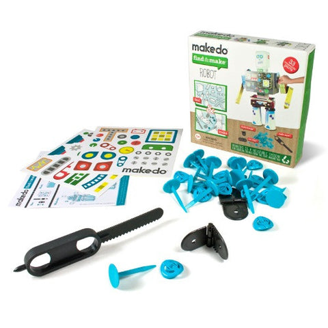 Find & Make Robot Kit From Makedo - Teach Kids Recycling