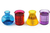 Chemistry Lab Shaped Plastic Shot Glass Set by Kheper Games