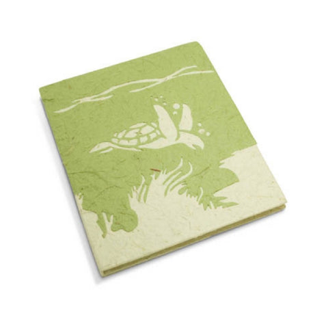 PooPoo Paper - Sea Turtle Mini Journal - Made of Recycled Elephant Poo
