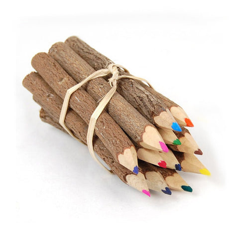 12 Colored Twig Pencils 5 inch Twig-uums Whimsical