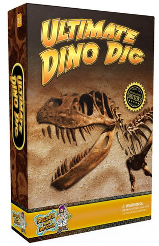 Ultimate Dino Dig Kit w/Real Dinosaur Fossils, by Dr Cool