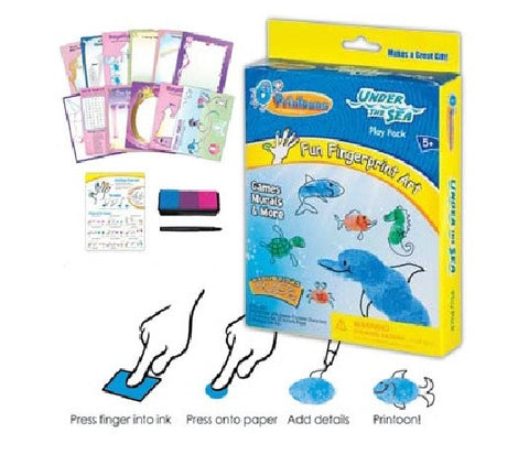 Under The Sea Printoons Fun Fingerprint Art Activity Kit