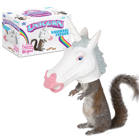 Unicorn Squirrel Feeder by Accoutrements