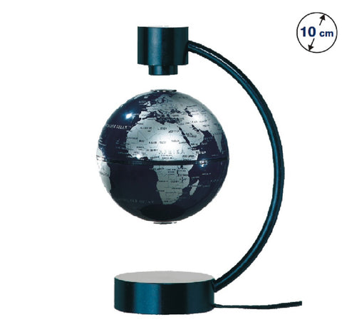 Stellanova Silver and Blue Magnetic Levitating Globe