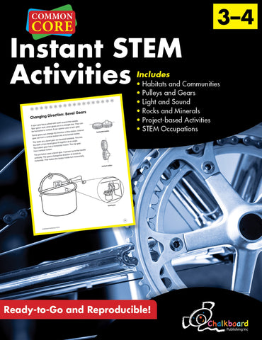Instant STEM  Activities - Grades 3 & 4 - Common Core Standards