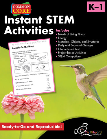 Instant STEM Activities - Grades K & 1 - Common Core Standards
