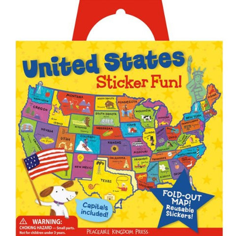 US Map Reusable Sticker Activity Kit