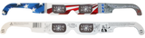 3D Holographic Glasses w Patriotic Frame-See USA at Any Bright Point of Light-5 pack