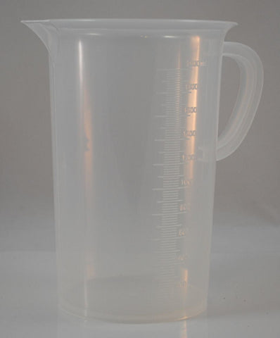 2000mL Polypropylene Pitcher Beaker, Tall Form, 6 Pack