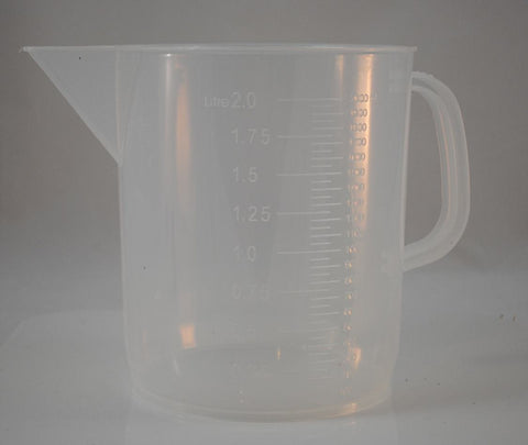 2000mL Polypropylene Graduated Pitcher Beaker, Short Form