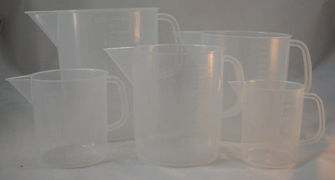 Plastic Measuring Jug Set of 5 Standard Sizes