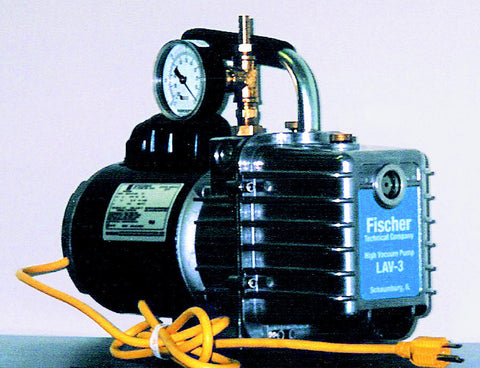 LAV-3/G High Vacuum Pump 3CFM-110V w/Gauge, by Fischer Technical