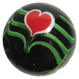 "22mm Handmade Art Glass ""Valentine"" Marble w Stand"