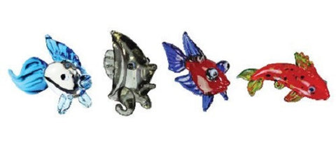 Looking Glass Torch Figurines - 4 Different Fish (4-Pack)