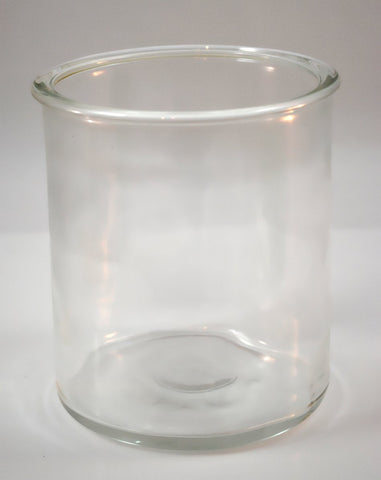 Round Blown Glass Battery Jar 4.5 x 5 inch
