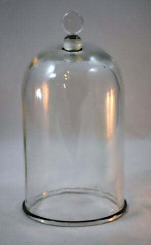 Glass Bell Jar 6 x 11 inches w Ground Glass Stopper for Vacuum Experiments