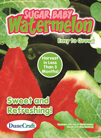Sugar Baby Watermelon Seed Pack- Grow Edible Watermelons