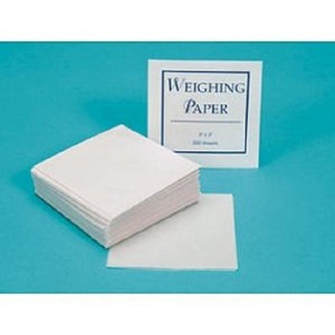 "Nitrogen Free Weighing Paper 6"" x 6"" Perfect for Analytical Samples"