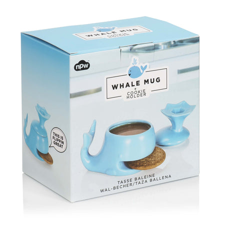 Whale Mug and Cookie Holder 2 Piece Cup Set