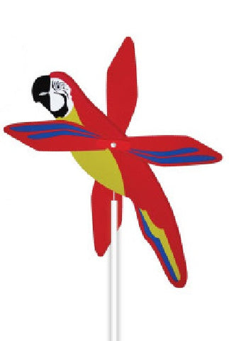 Macaw Parrot WhirlyGig - Spinning Lawn Ornament