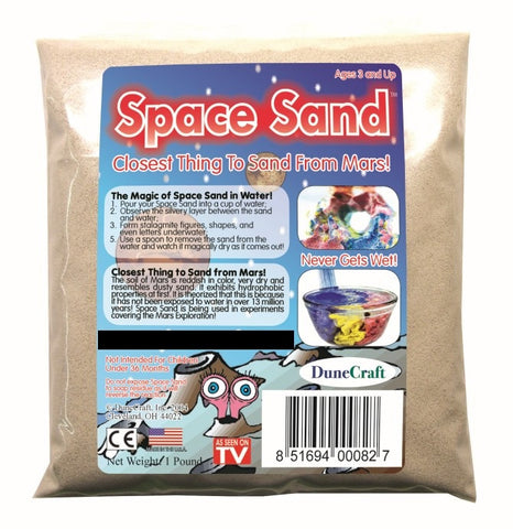 White (Natural) Space Sand: 1lb of Hydrophobic Sand