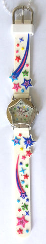 The Kids Watch Company Stars Watch One Size White Band