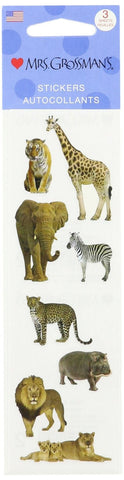 Mrs Grossman's Stickers - Wild Animal Photos