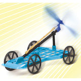 Wind and Elastic Powered Car Kit By Artec