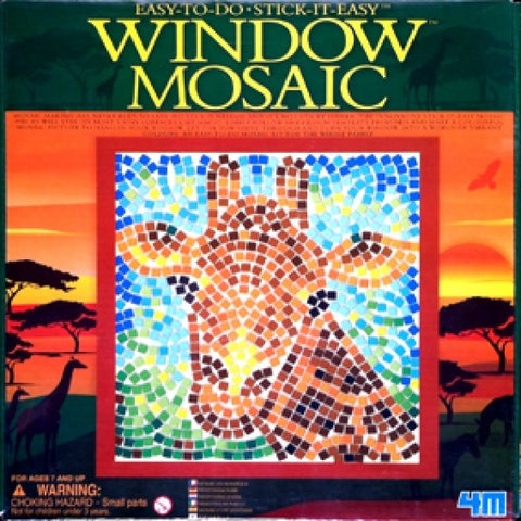 GIRAFFE Safari Window Mosaic 4M Art / Craft Kit by Toysmith
