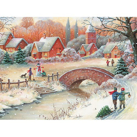 Winter Scene Wood Jigsaw Puzzle 300 Piece Large Format