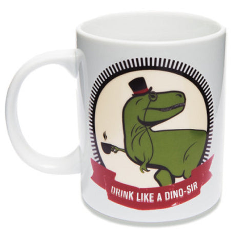 Ceramic Dino Sir Coffee Mug Tea Cup