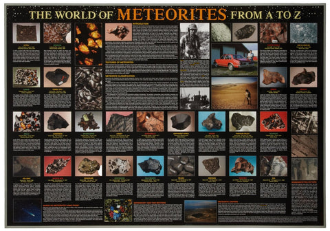 World of Meteorites from A to Z - Science Poster 38x26""