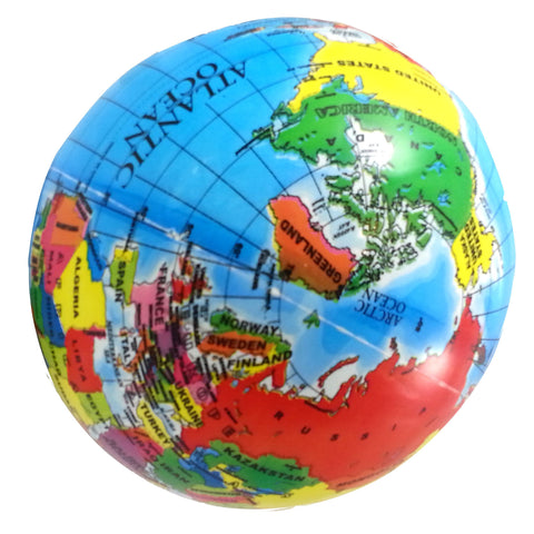 World Globe Vinyl Playball
