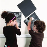 Self Adhesive Chalkboard Squares - Set of 4- Write on the Wall