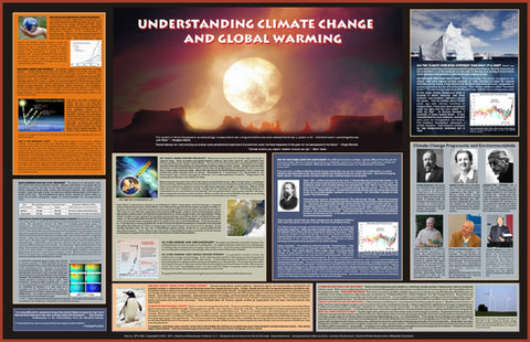 Understanding Climate Change & Global Warming - Environmental Science Poster, 38x26""
