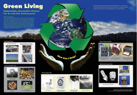 Green Living Environmental Science Poster, 38x26""