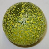 Enormous Glass YELLOW STARDUST Marble -  50mm by House of Marbles