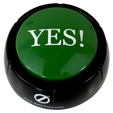 The YES! Button Electronic Voice - 12 Versions of Yes - Novelty Desk Toy