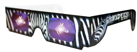 Holographic Zebra Wild Eyes 3D Animal Glasses
