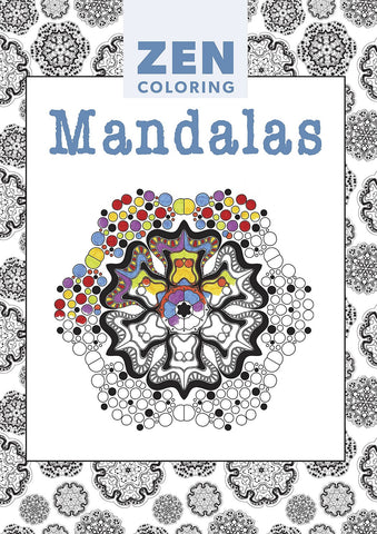 Zen Coloring Book - Mandalas - Adult Art Activity