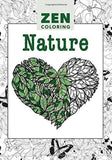 Zen Coloring Book - Nature - Adult Art Activity