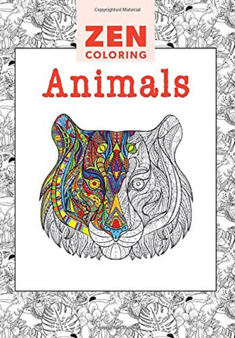 Zen Coloring Book - Animals - Adult Art Activity