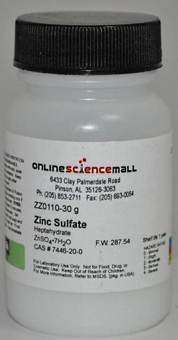 Zinc Sulfate, 30g - Chemical Reagent