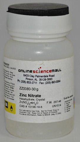Zinc Nitrate, 30g - Chemical Reagent