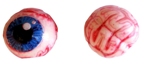 Zombie Squish It Squeeze It Creepy Balls Brain & Eye Set of 2