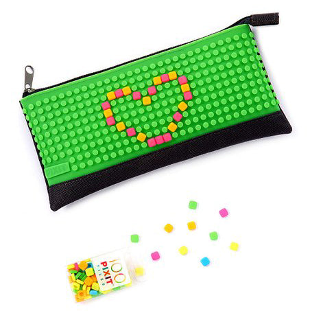 "Green ""Pixit Pouch"" Customizable Pencil Pouch Bag By Cassidy Labs"