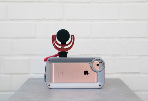 Helium Core iPhone film rig with shotgun mic